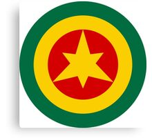 Roundel of the Imperial Ethiopian Air Force  Canvas Print