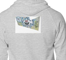 shark eating cops Zipped Hoodie