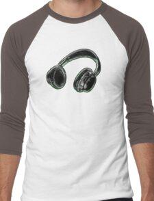 Headphones. Men's Baseball ¾ T-Shirt