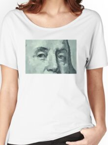 Benjamin Franklin closeup Women's Relaxed Fit T-Shirt