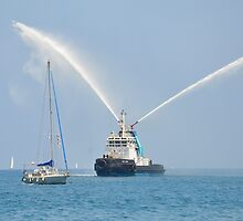 Fire Tug Welcome by Malcolm Snook