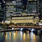 Singapore Center Area at Night by BengLim