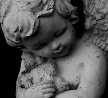 Cemetery Statue: Child Angel by DJ Fortune