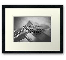 Violin Sherlock Holmes Framed Print