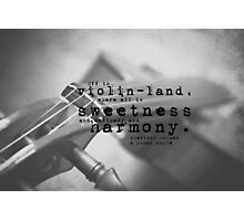 Violin Sherlock Holmes Photographic Print
