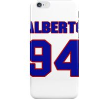 National football player Alberto White jersey 94 iPhone Case/Skin