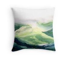 Sunlit hill Throw Pillow