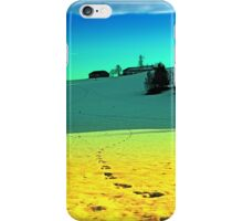 Winter wonderland in twilight colors | landscape photography iPhone Case/Skin