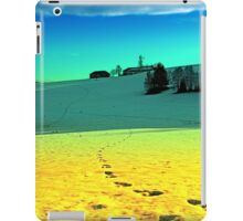 Winter wonderland in twilight colors | landscape photography iPad Case/Skin