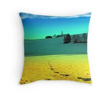 Winter wonderland in twilight colors | landscape photography Throw Pillow