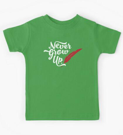 Peter Pan - Never Grow Up. Kids Tee
