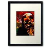 IT BURNS Framed Print