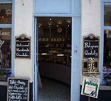 chocolate store in Bruges by William Lyszliewicz
