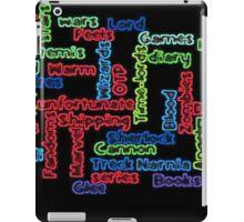 Fandom words mashup iPad Case/Skin