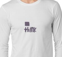 Think Outside the Box (on light tee shirt) T-Shirt