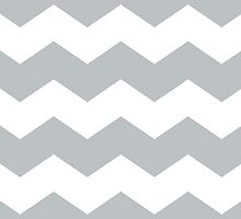 Silver and White Chevron Print by itsjensworld