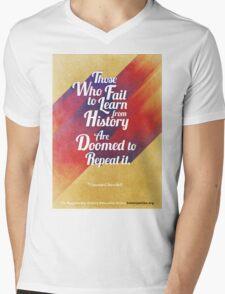 Repeat History Mens V-Neck T-Shirt