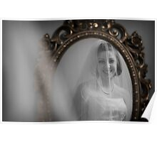 Bride in Mirror Poster
