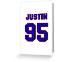 National football player Justin Bannan jersey 95 Greeting Card