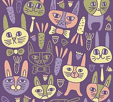 Funny Bunnies Violet by Olya-Yang
