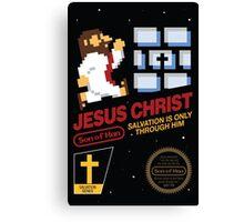 Jesus Christ NES 8bit Canvas Print