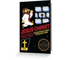 Jesus Christ NES 8bit Greeting Card
