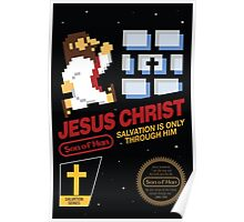 Jesus Christ NES 8bit Poster