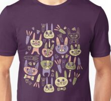 Funny Bunnies Violet Unisex T-Shirt