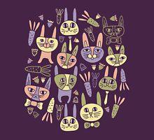 Funny Bunnies Violet Unisex T-Shirt