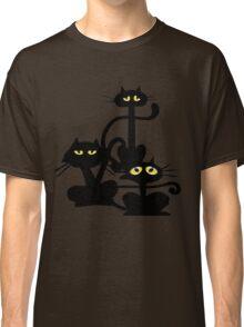 Three Black Cats Classic T-Shirt