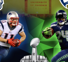 Super Bowl XLIX - 2015 - New England & Seattle Sticker