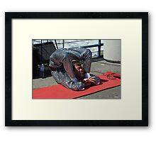 Street Performer Framed Print