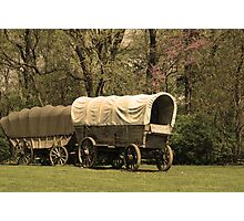 Frontier Wagon Photographic Print