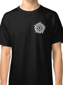Supernatural Demon Possession Protection (Badge Version) [WHITE] Classic T-Shirt