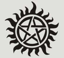 Supernatural - Demon Possession Protection (Badge Version) [BLACK] by Styl0