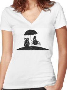 Bugs in the Rain Women's Fitted V-Neck T-Shirt