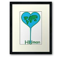 Earth Water Drop Framed Print