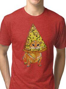 pizza gato Tri-blend T-Shirt