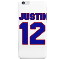 National football player Justin Gage jersey 12 iPhone Case/Skin