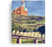 Community Recycling Canvas Print