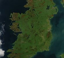 Ireland from Space - Ireland as seen from space by verypeculiar