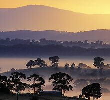 Sunrise, Kangaroo Ground, Yarra Valley. by Ern Mainka