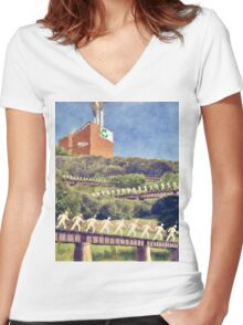 Community Recycling Women's Fitted V-Neck T-Shirt