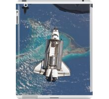 The Space Shuttle in Orbit Around The Earth - As seen from the ISS iPad Case/Skin