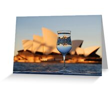 Glass IV, or Opera on the Rocks Greeting Card