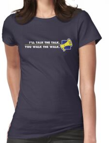 Talk The Talk - Official Mouthpiece Design Womens Fitted T-Shirt