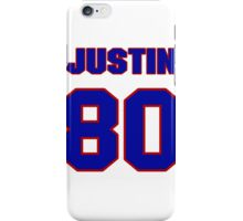 National football player Justin Skaggs jersey 80 iPhone Case/Skin