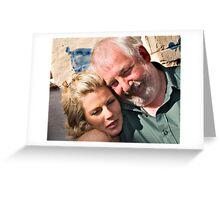 Dad you're squashing me! Greeting Card
