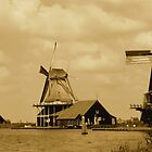 WIND MILLS AT DE ZAANSE SCHANS by Johan  Nijenhuis