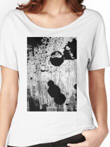 Black and white abstract Women's Relaxed Fit T-Shirt